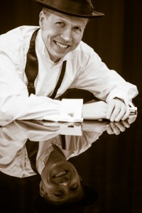 Jazz piano player headshot for web site and promotional literature